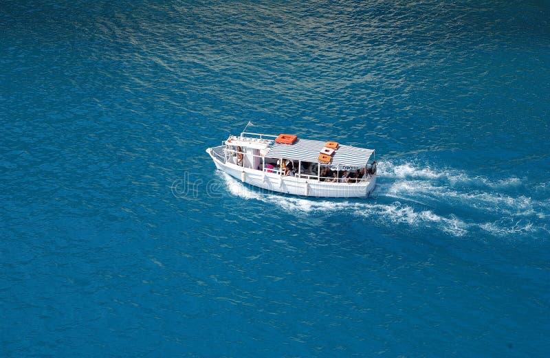 Download Boat in sea stock photo. Image of ioannina, wave, mediterranean - 584524