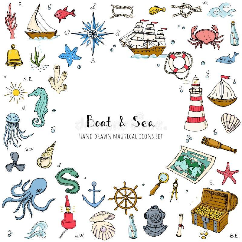 Boat&Sea stock illustratie