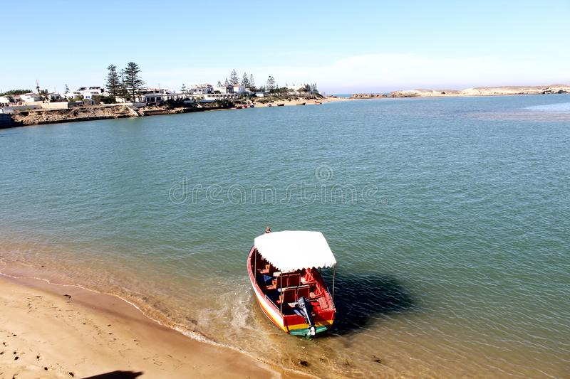 Boat in sea side stock photos