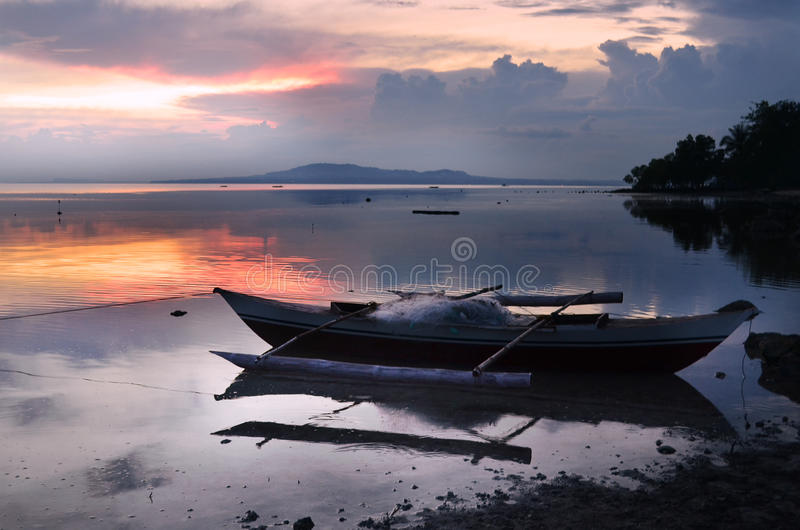 Boat at the seaside royalty free stock photo