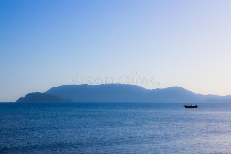 Download Boat on the see. stock image. Image of summer, maritime - 28803427