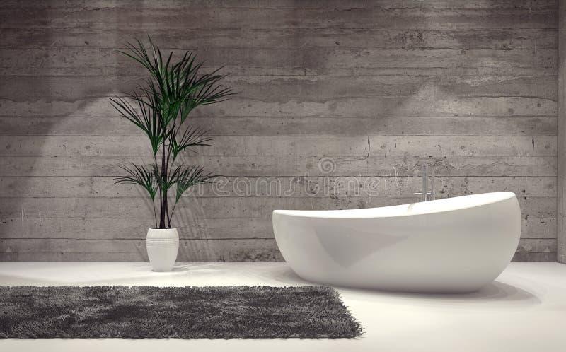 Boat-shaped contemporary bathtub stock illustration