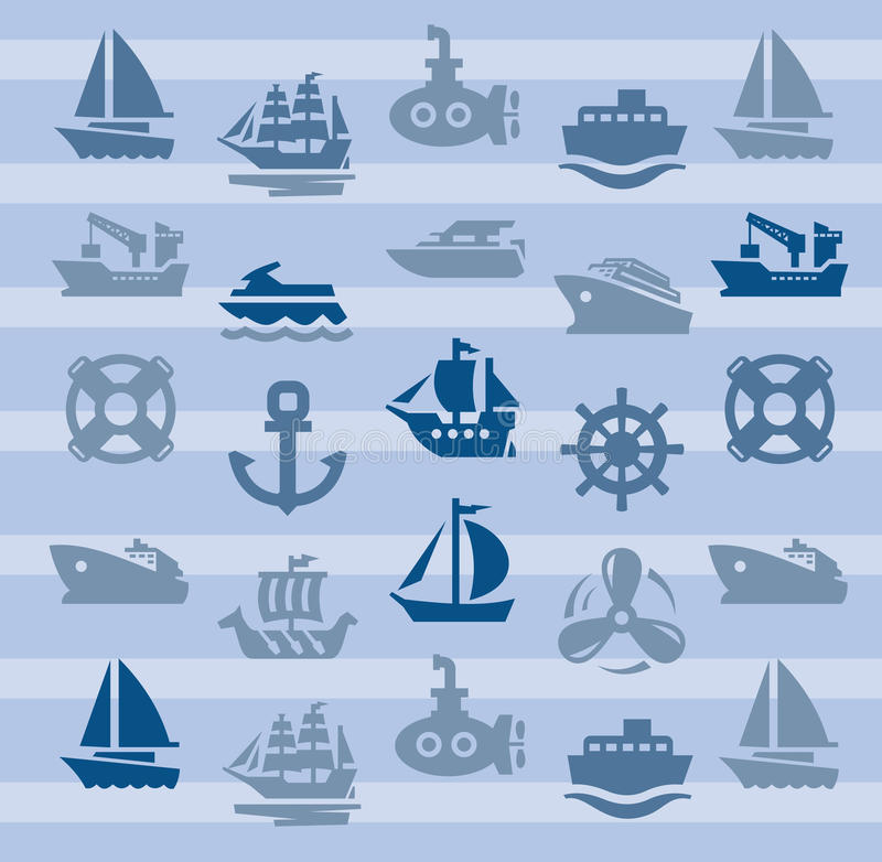 Download Boat and ship stock vector. Image of icon, transport - 28707927