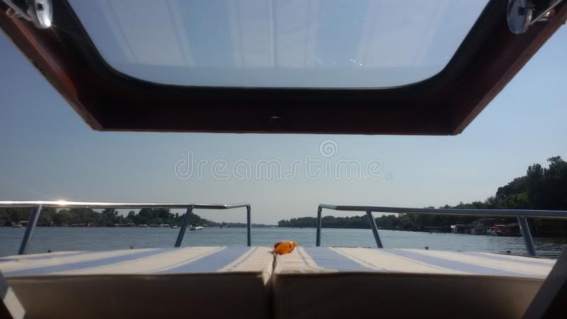 Boat Ship Sailing River Yacht royalty free stock photos