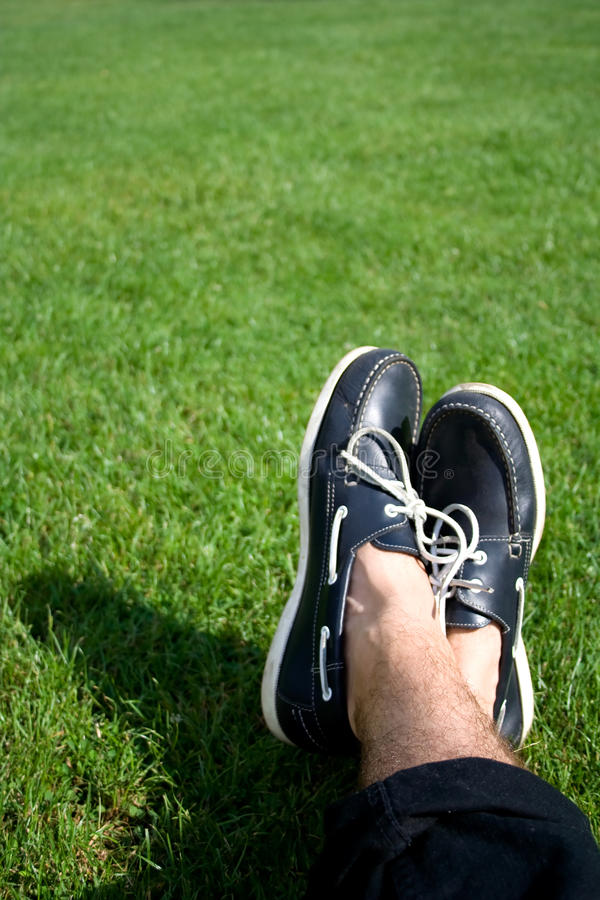 Free Boat Shoes On Grass Royalty Free Stock Image - 14759926