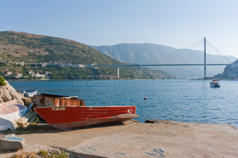 Download Boat on a shore stock photo. Image of mountains, landscape - 22621218
