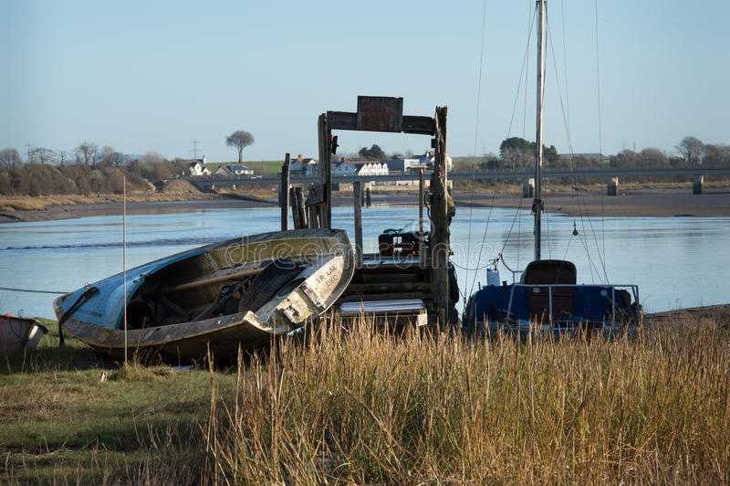 Download Boat On Side By The River Wyre Editorial Photography - Image of sail, boats: 86576157