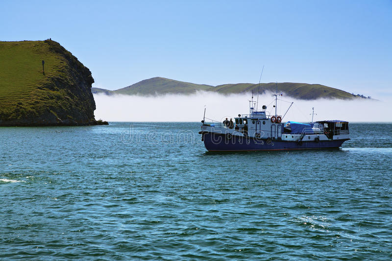 Download Boat In The Small Sea Strait Of Lake Baikal Stock Image - Image: 14176517