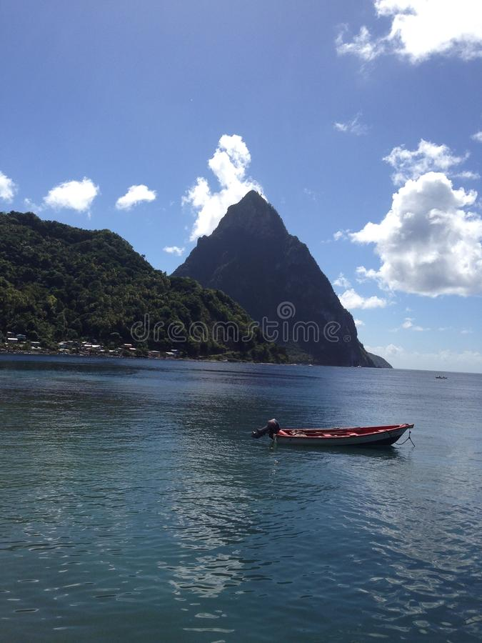 Boat in St. Lucia royalty free stock images