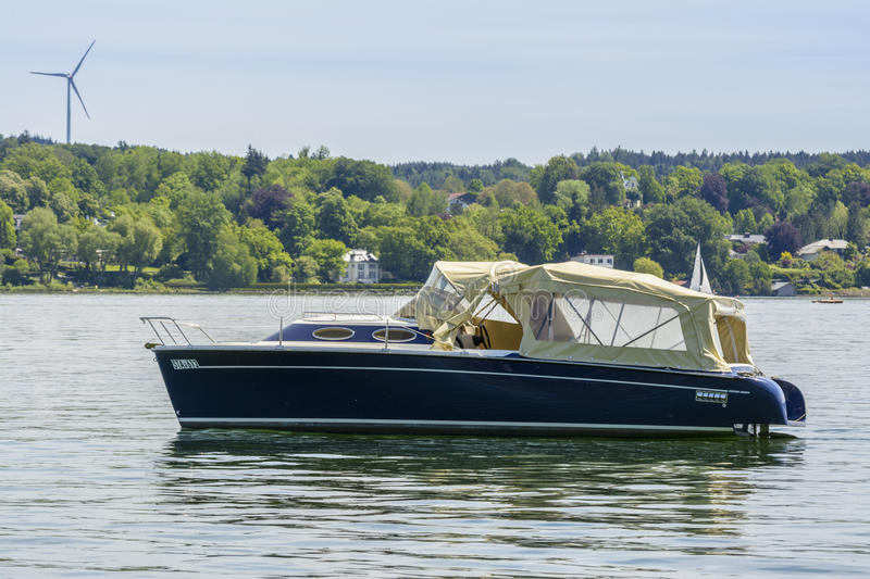 Boat on Starnberger See, Bavaria, Germany royalty free stock photography