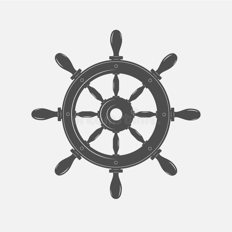 Download Boat Steering Wheel Vector Icon On White Background. Stock Vector - Illustration of emblem, naval: 83712971
