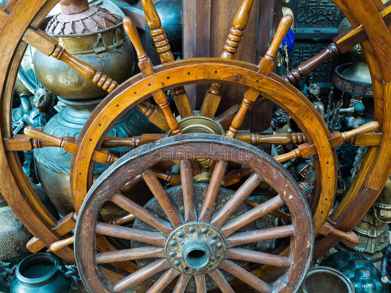 Boat Steering Wheels Royalty Free Stock Photos