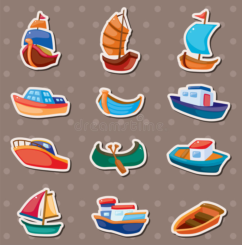 Boat stickers royalty free illustration