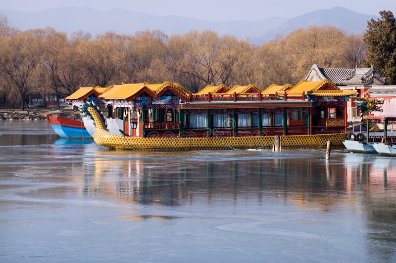 Download Boat in The Summer Palace stock photo. Image of park, tourism - 7423796