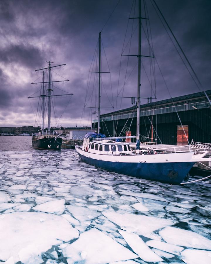 Boat in Ice stock photography