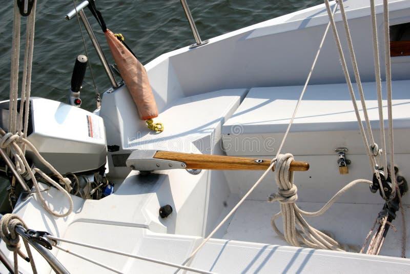 Boat Tiller Stock Photo  Image Of Sail  Ocean  Boat  Engine