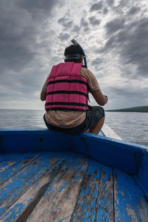 Boat to Menjangan Island. This photo taken on the boat enroute to Menjangan Island Bali, Indonesia royalty free stock images