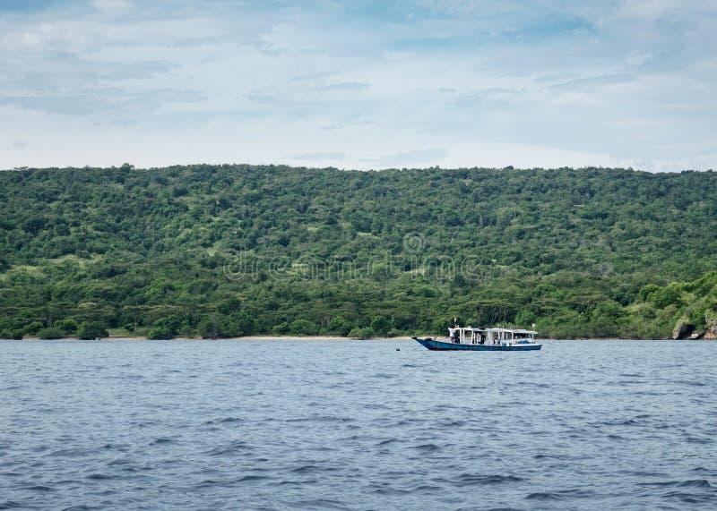 Boat to Menjangan Island. This photo taken on the boat enroute to Menjangan Island Bali, Indonesia stock images