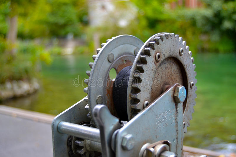 Boat Trailer Winch royalty free stock image