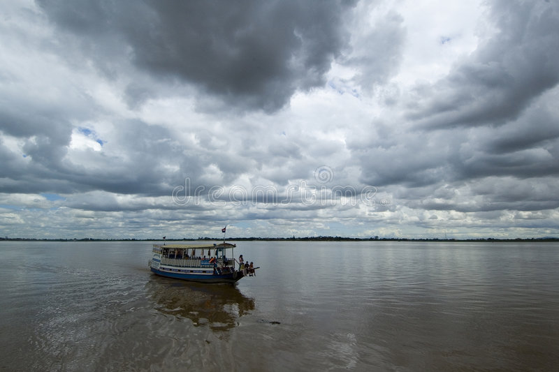 Download Boat Trip 3 stock image. Image of overcast, clouds, mekong - 206137