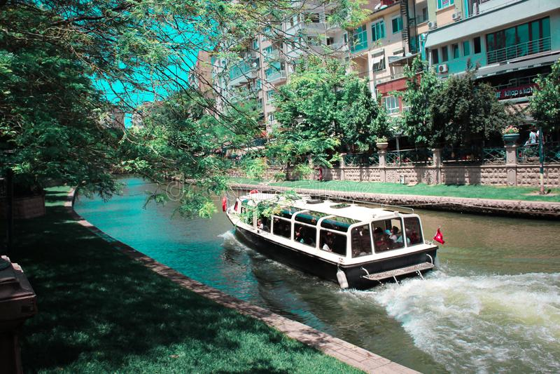 A boat trip from Eskisehir Turkey stock image