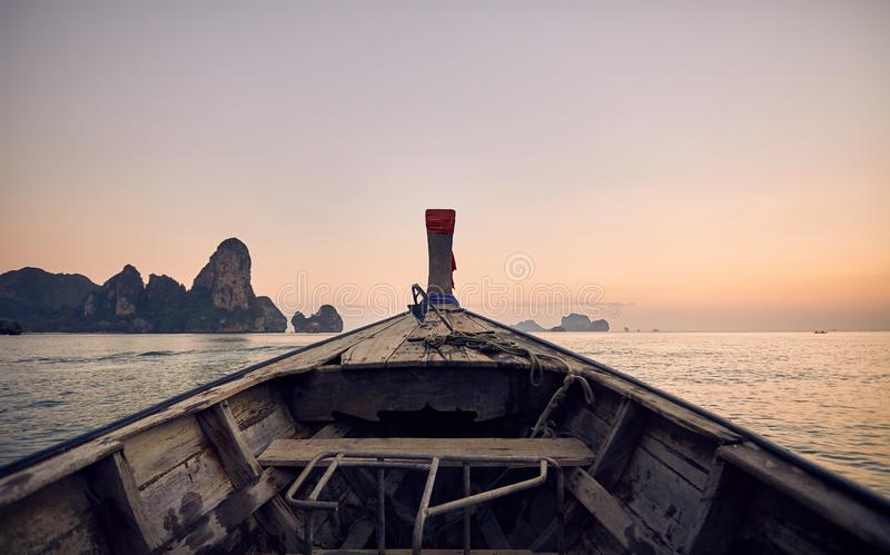 Boat in the tropical Islands stock image