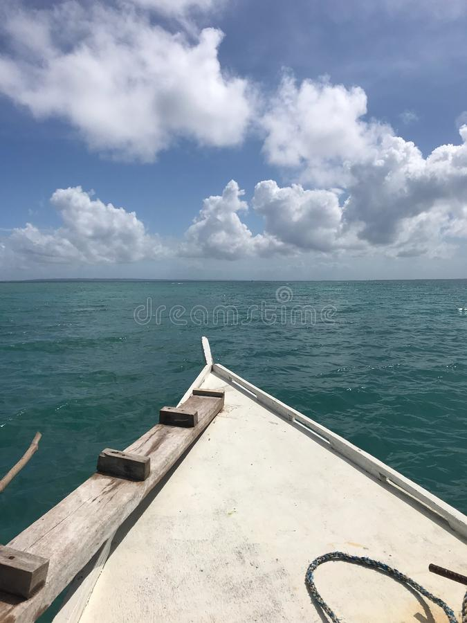 Boat on a Tropical Sea stock image
