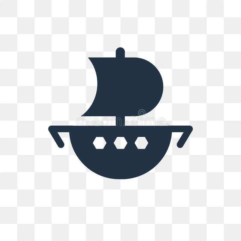 Boat vector icon isolated on transparent background, Boat trans. Parency concept can be used web and mobile, Boat icon vector illustration