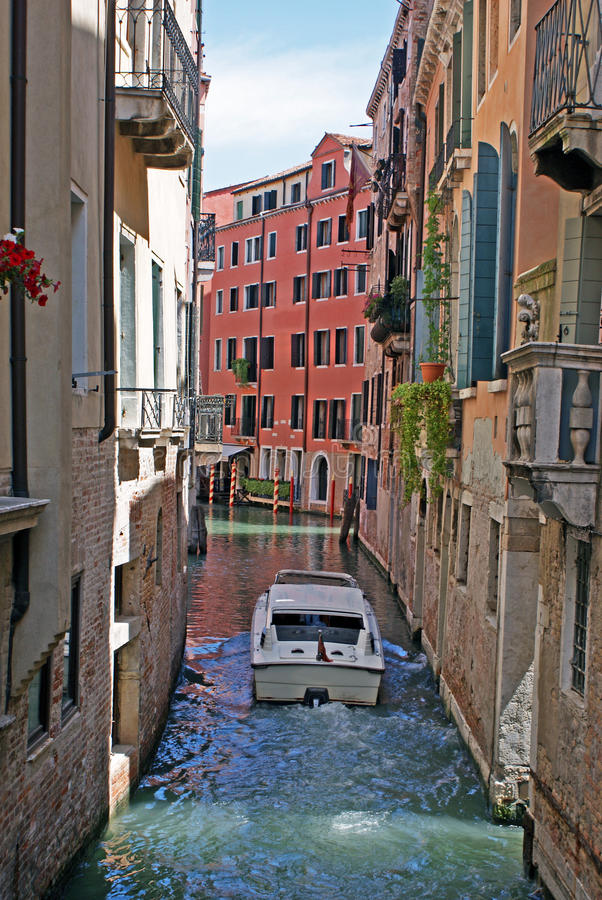 Download Boat on venice channel stock photo. Image of river, propeller - 14777138