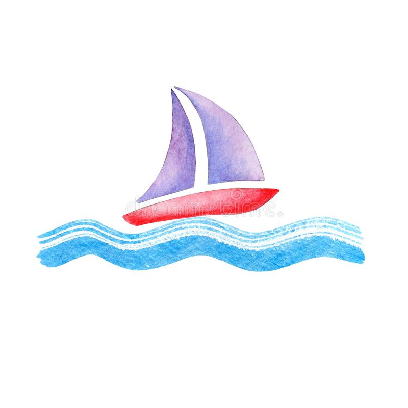 Boat on a wave royalty free stock photos