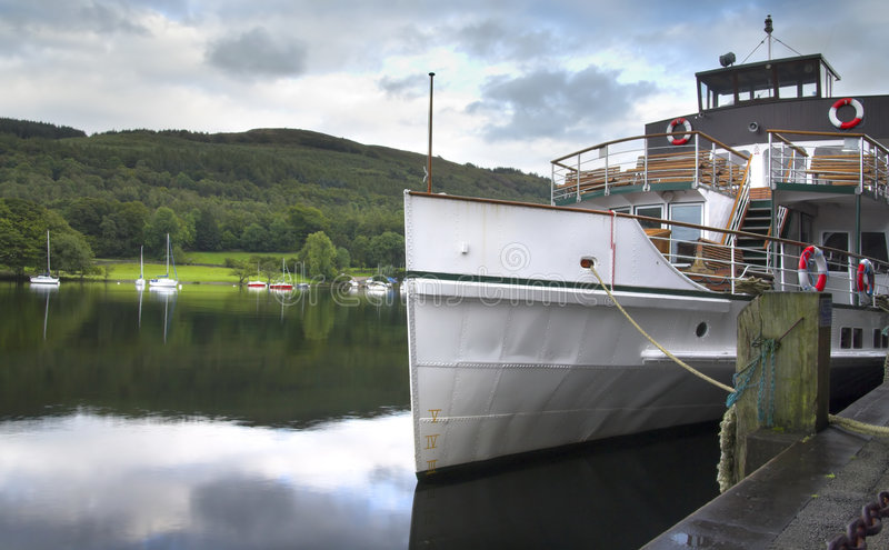 Download Boat on Windermere stock photo. Image of green, lake, reflection - 2996446
