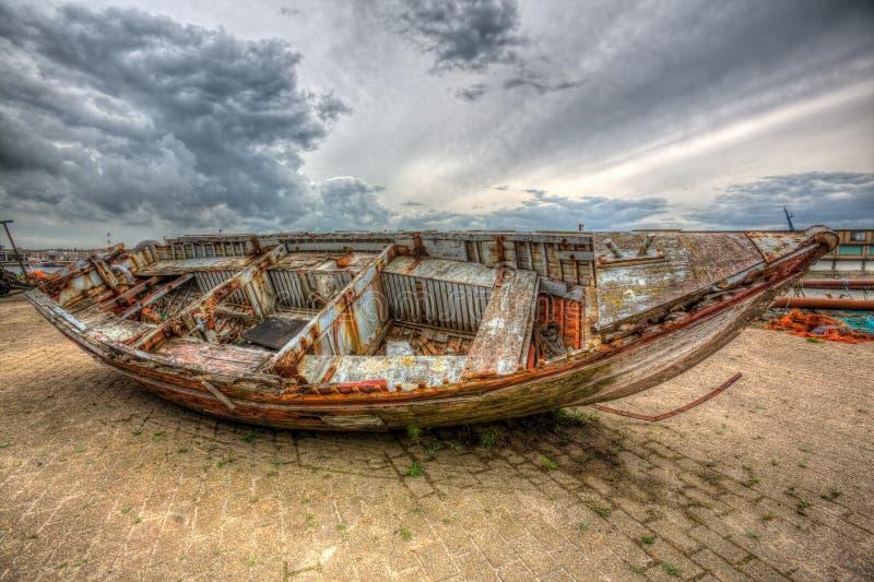Boat wreck stock photos