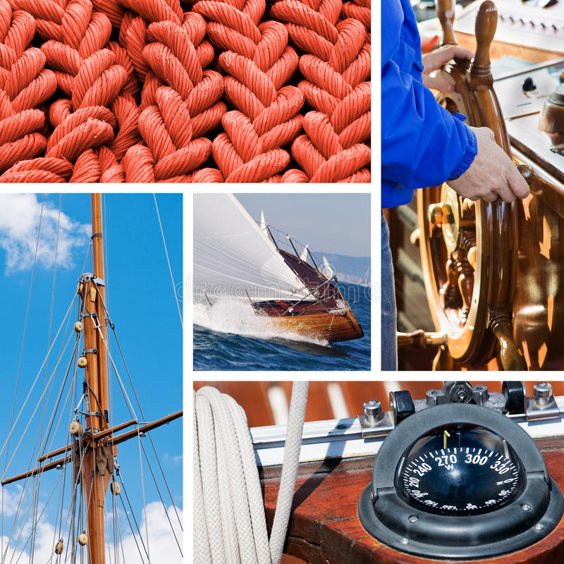 Boat and yacht collection stock image