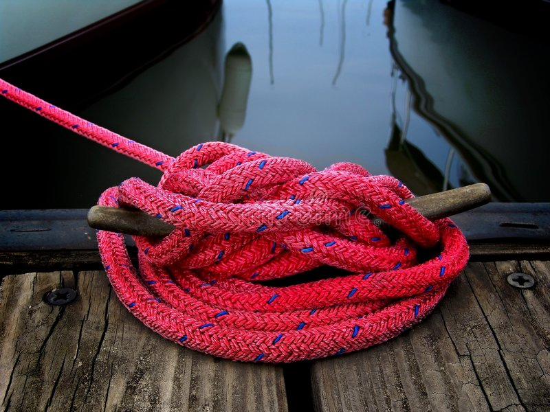 Download Boater's Rope stock photo. Image of sailing, weathered - 147412