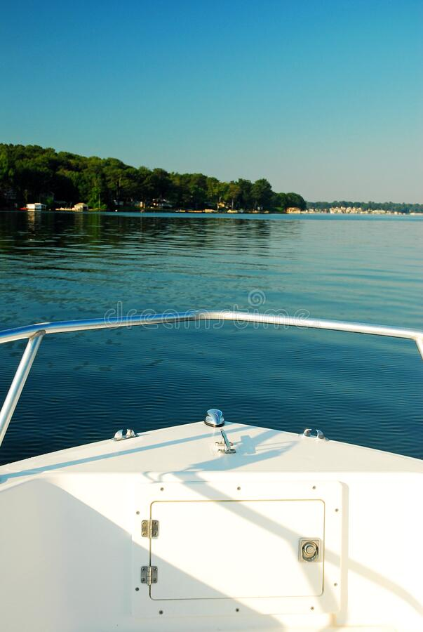 A boater's view of a pristine lake. A boater's view of a pristine Lake Hopatcong in the New Jersey Highlands stock images