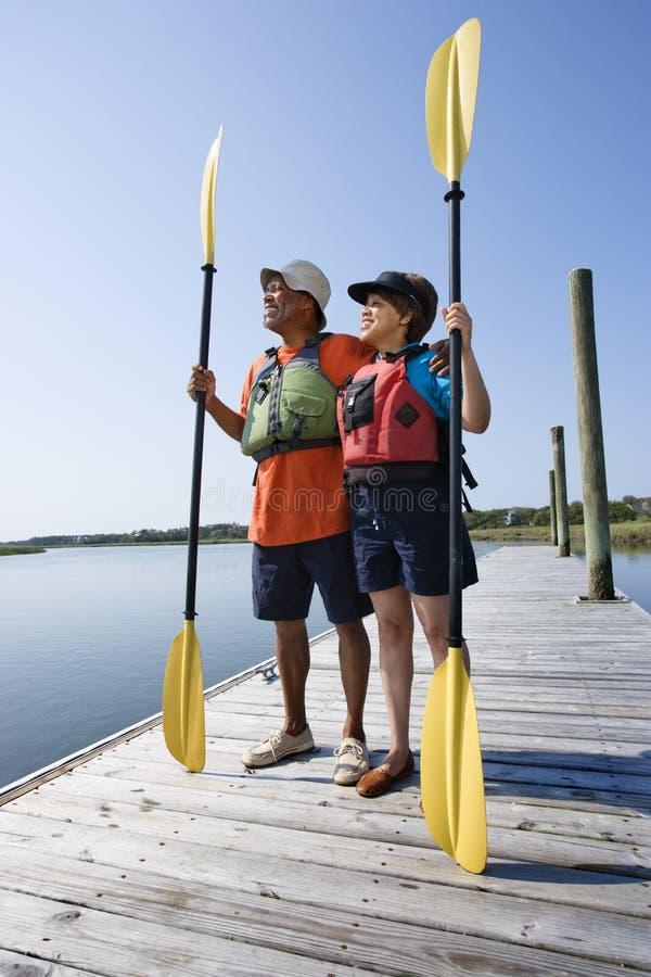 Boaters sul bacino. immagini stock
