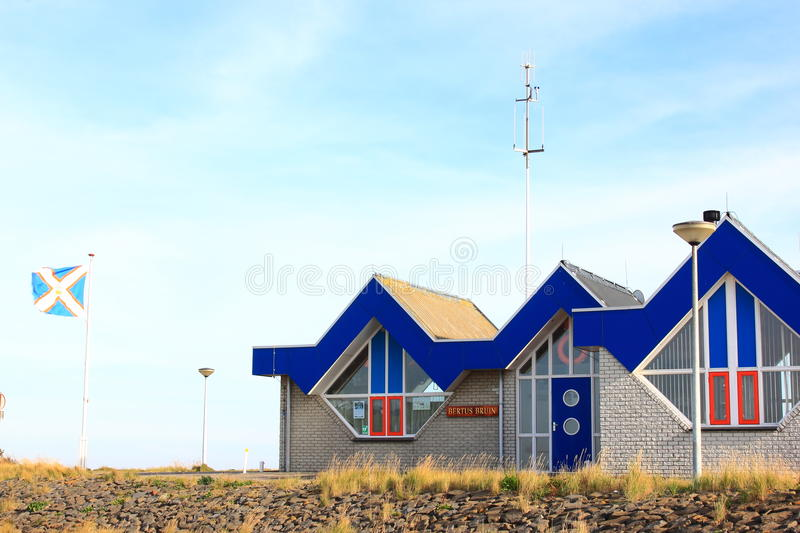 Boathouse Ameland Ballum KNRM, Ameland, Holland royalty free stock photo