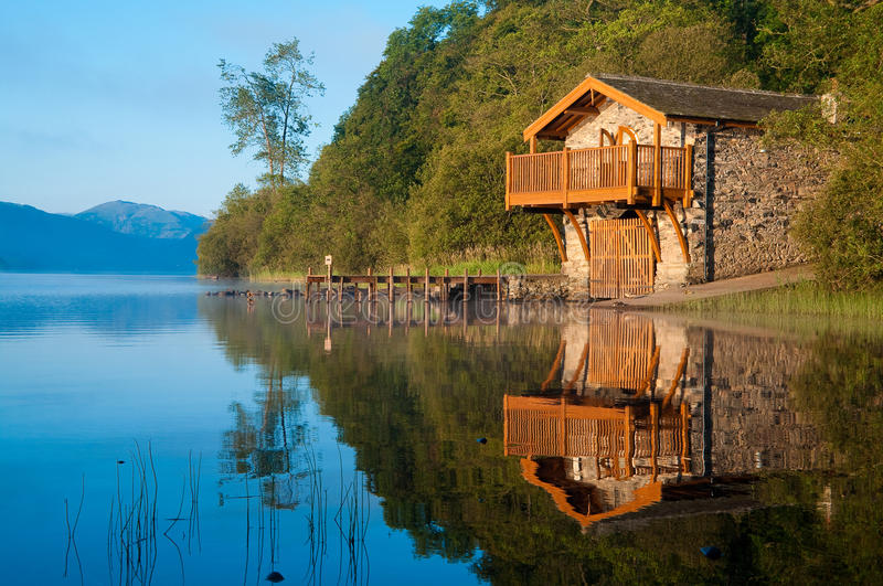 Boathouse d'Ullswater image libre de droits