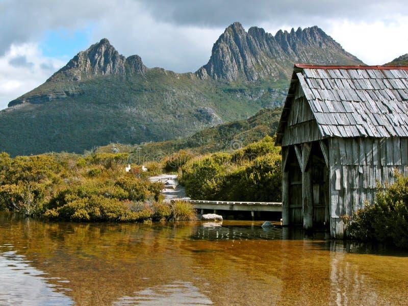 Boathouse de la montaña de la horquilla fotos de archivo