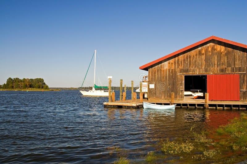 BoatHouse del Chesapeake fotografia stock