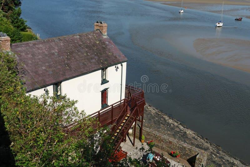 Boathouse di Laugharne fotografie stock libere da diritti