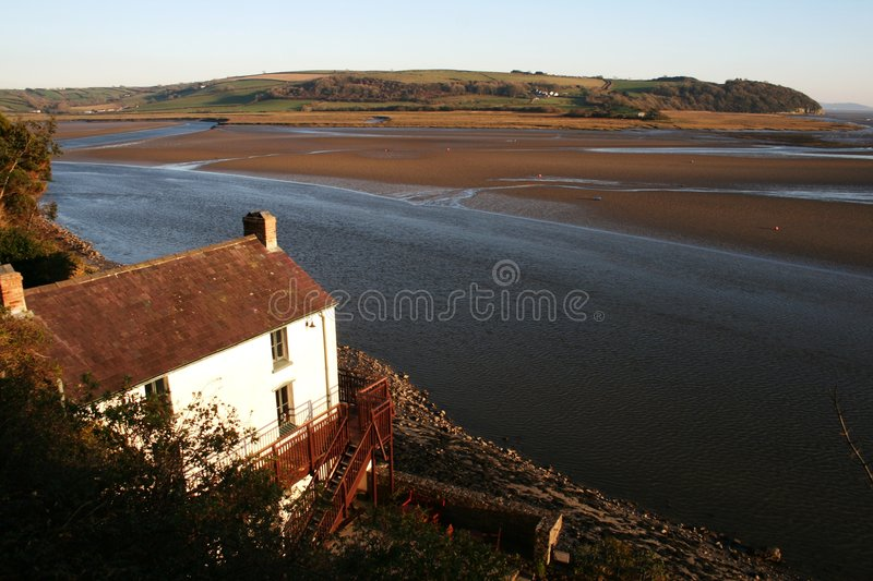 Boathouse Laugharne del Dylan Thomas immagini stock