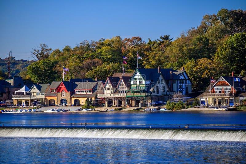 Boathouse Row. In Philadelphia PA stock image