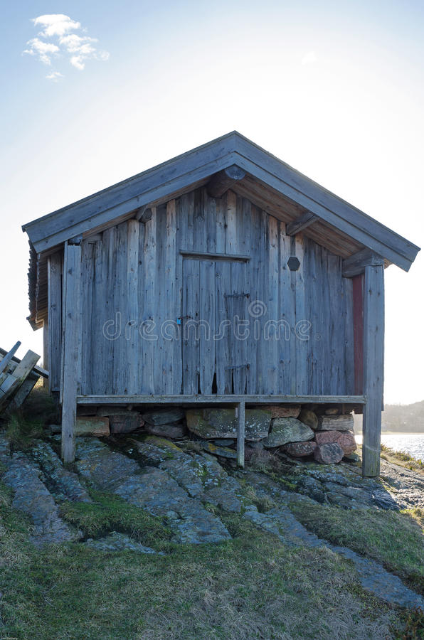 Boathouse velho foto de stock royalty free