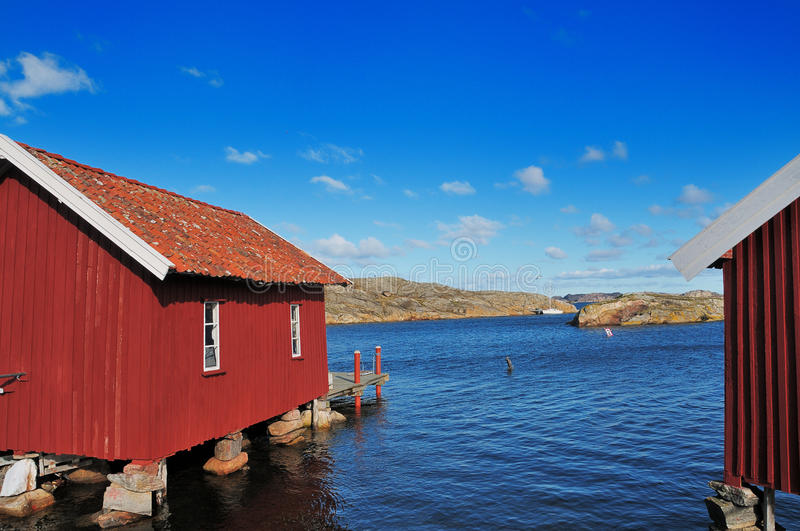 Download Boathouses editorial stock image. Image of archipelago - 22518309