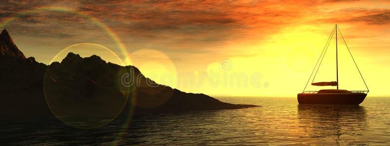 Download Boating 2 stock illustration. Image of render, light, atmosphere - 625565