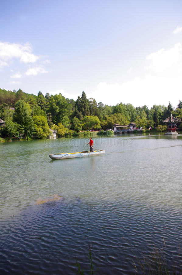 Download Boating editorial photography. Image of lijiang, trees - 20914277