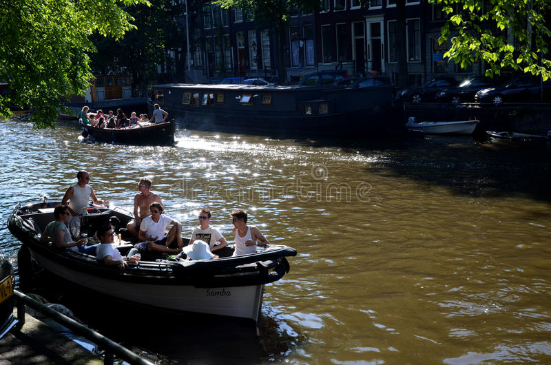 Download Boating in Amsterdam editorial photo. Image of passenger - 28553096