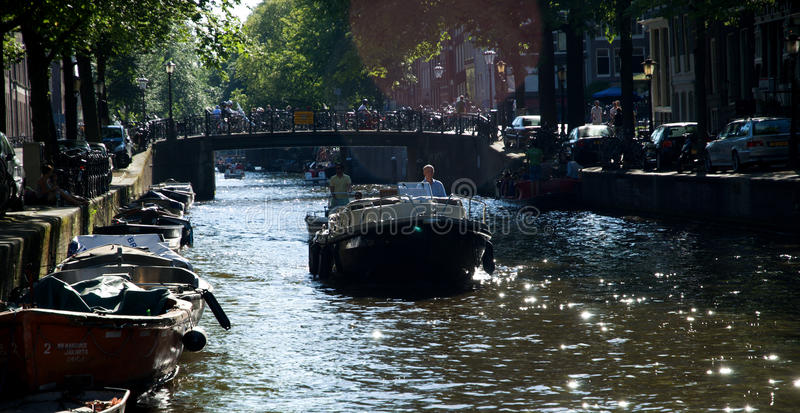 Download Boating in Amsterdam editorial photo. Image of ship, netherlands - 28556446
