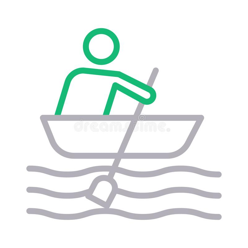 Boating colour line vector icon. Boating icon. Elements for mobile concept and web apps. Thin line icons for website design and development, app development vector illustration